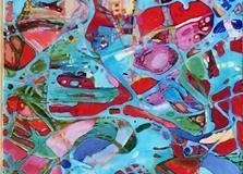 Elena Vorobyeva Cosmos I Oljemaleri (120x35 cm) kr 12000