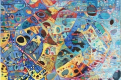 Elena Vorobyeva Cosmos II Oljemaleri (30x30 cm) kr 5000