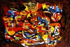 I bevegelse Oljemaleri (50x70 cm)