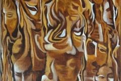 Røtter Oljemaleri (70x50 cm)
